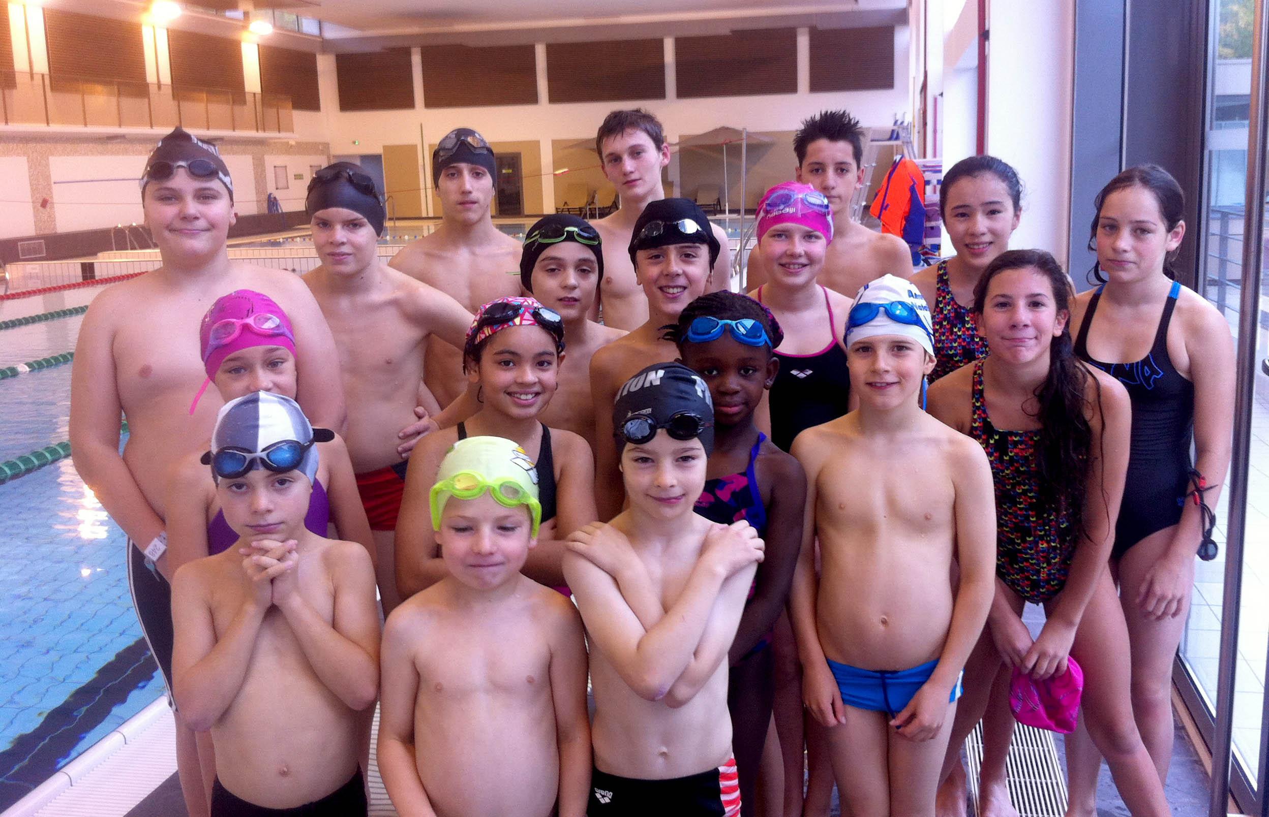 tous les nageurs ayant fait le stage